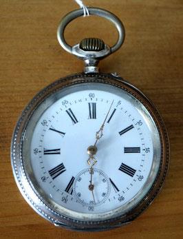 Taschenuhr 0,800 Silber - kleine Sekunde