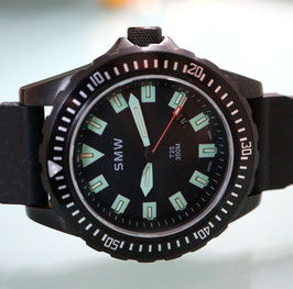 SMW Diver Professional 300m (Swiss Military Watch) mit Tritium Permanentbeleuchtung