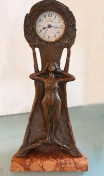 Antike Tischuhr Levetoi mit Wecker, revidiert, Jahrgang ca. 1915