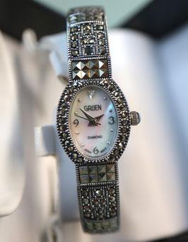 Gruen Damen Schmuck-Spangenuhr-Set, inkl Armband und Original Box