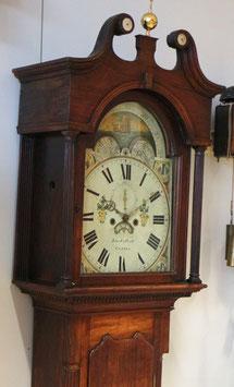 """Englische Standuhr """"John Callcott Cotton"""" mit Mondphasen- und Kalenderanzeige, antik - sehr selten"""