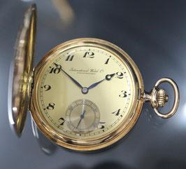 Savonette Taschenuhr IWC - International Watch Corp. Schaffhausen, 1937, 14 Karat Gold