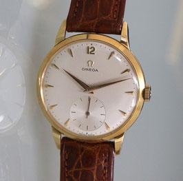 Vintage Omega Tresor Jumbo in 18 Karat Gold, Handaufzug, 50er Jahre