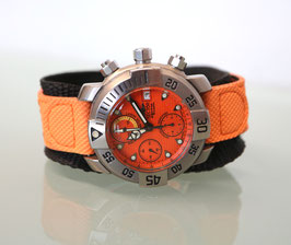 Sector Diving Team 1000 Automatik Chronometer, limited Edition, in der Kultfarbe Orange