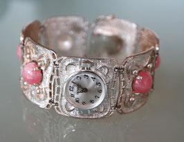 Schmuck Damen-Armbanduhr, Handaufzug, Sterling Silber, Swiss Made, Jahrgang 1970er Jahre