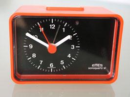 """Wecker von EMES """"Sonoquartz"""", mit Batterie, 1970er Jahre"""