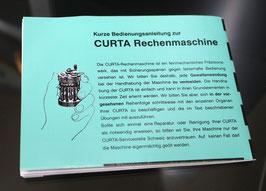 Kurz-Bedienungsanleitung für Curta I und II - Hochwertige Neuauflage in deutsch
