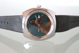 Erotik-Uhr Zurex mit Pola Spot Filter, Handaufzug, Schweizer Patent, Ende 60er Jahre