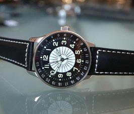 Zeno Watch X-Large Pilot world timer - Weltzeituhr mit Städteskala - 2 Jahre Garantie