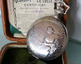 """Schützenuhr """"Luzern 1901"""" Georges Favre-Jacot & Cie., Le Locle, inkl. original Etui und Zertifikat"""