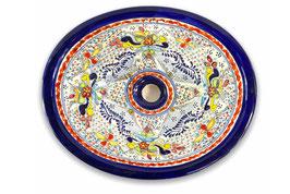"""Mexikanisches Waschbecken """"Dana"""" (oval, medium) #ANG-1120-5"""