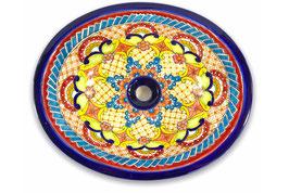 """Mexikanisches Waschbecken """"Dana"""" (oval, medium) #ANG-1120-16"""