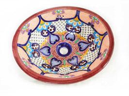 """Mexikanisches Waschbecken """"Dana"""" (oval, medium) #1013-19"""