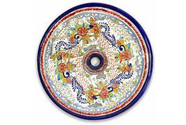 Mexikanisches Aufsatzwaschbecken (rund, gross) #ANG-1119-5