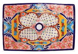 Mexikanisches Aufsatzwaschbecken (rechteckig) #AMB-013-11