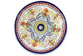 Mexikanisches Aufsatzwaschbecken (rund, gross) #ANG-1119-9