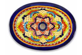 Mexikanisches Einbauwaschbecken (oval, klein) #ANG-1117-7