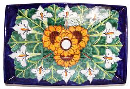 Mexikanisches Aufsatzwaschbecken (rechteckig) #AMB-013-16