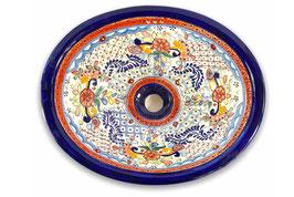 """Mexikanisches Waschbecken """"Dana"""" (oval, medium) #ANG-1120-2"""