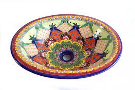 """Mexikanisches Waschbecken """"Dana"""" (oval, medium) #1013-12"""