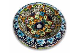 Mexikanisches Aufsatzwaschbecken (donut) #AMB-012-22