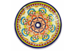 Mexikanisches Aufsatzwaschbecken (rund, gross) #ANG-1119-23