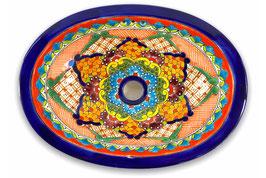 Mexikanisches Einbauwaschbecken (oval, klein) #ANG-1117-10