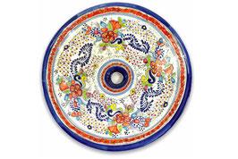 Mexikanisches Aufsatzwaschbecken (rund, gross) #ANG-1119-2