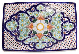 Mexikanisches Aufsatzwaschbecken (rechteckig) #AMB-013-8