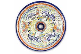 Mexikanisches Aufsatzwaschbecken (rund, gross) #ANG-1119-4