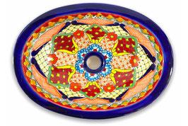 Mexikanisches Einbauwaschbecken (oval, klein) #ANG-1117-17