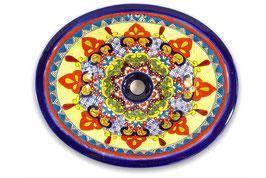 """Mexikanisches Waschbecken """"Dana"""" (oval, medium) #ANG-1120-13"""