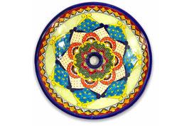 Mexikanisches Aufsatzwaschbecken (rund, gross) #ANG-1119-17