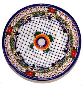 Mexikanisches Aufsatzwaschbecken (rund, medium) #AMB-002-1