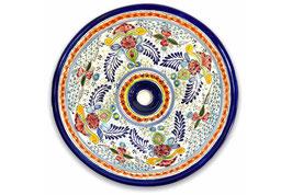 Mexikanisches Aufsatzwaschbecken (rund, medium) #ANG-1118-5
