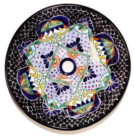 Mexikanisches Aufsatzwaschbecken (rund, medium) #AMB-002-13