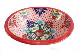 """Mexikanisches Waschbecken """"Tulum"""" (oval, medium) #1009-4"""