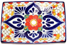 Mexikanisches Aufsatzwaschbecken (rechteckig) #AMB-013-12