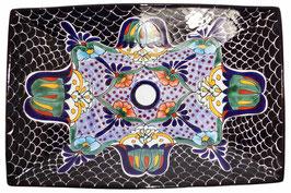 Mexikanisches Aufsatzwaschbecken (rechteckig) #AMB-013-13