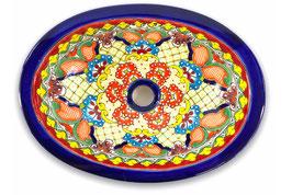 Mexikanisches Einbauwaschbecken (oval, klein) #ANG-1117-12