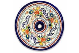 Mexikanisches Aufsatzwaschbecken (rund, medium) #ANG-1118-9
