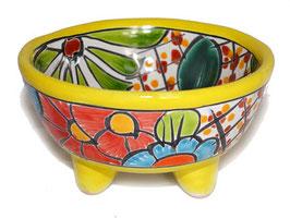 Schale Multicolor (Molcajete Mini) - Akzentfarbe gelb - #AMK-030-3