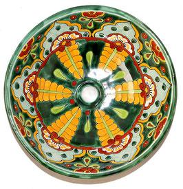 Mexikanisches Aufsatzwaschbecken (rund, medium) #AMB-002-7