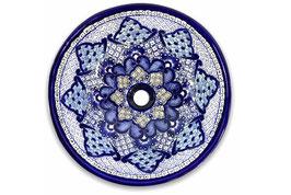Mexikanisches Aufsatzwaschbecken (rund, medium) #ANG-1118-12