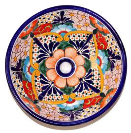 Mexikanisches Aufsatzwaschbecken (rund, medium) #AMB-002-15