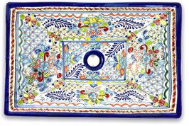 Mexikanisches Aufsatzwaschbecken (rechteckig) #ANG-1121-28