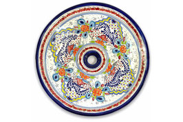 Mexikanisches Aufsatzwaschbecken (rund, gross) #ANG-1119-6