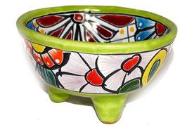 Schale Multicolor (Molcajete Mini) - Akzentfarbe lemon/grün - #AMK-030-1