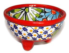 Schale Multicolor (Molcajete Mini) - Akzentfarbe rot - #AMK-030-4