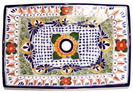 Mexikanisches Aufsatzwaschbecken (rechteckig) #AMB-013-1